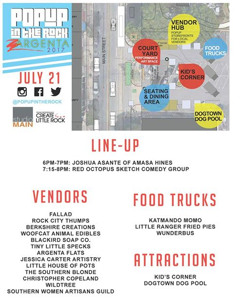 popup argenta lineup and map 2017